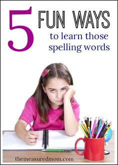 No more writing words five times each.... try these fun ideas for spelling practice!