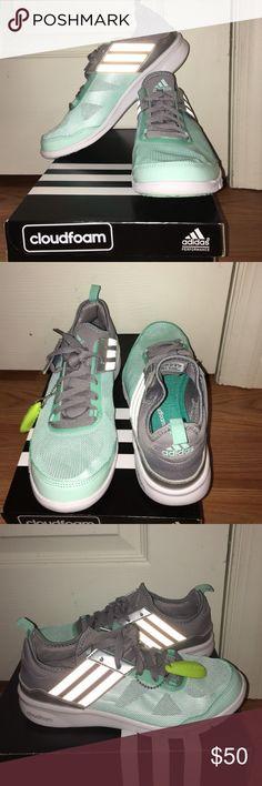 adidas cloudfoam mint green