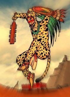 jaguar warrior by mister-crab on DeviantArt Portrait Illustration, Art Illustrations, Fashion Illustrations, Aztec Weapons, Warrior Fashion, Mexican Art Tattoos, Drawing Faces, Art Drawings, Aztec Warrior