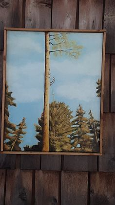 Logger in Fall Creek Oregon Oil Paintings, Oil On Canvas, Oregon, This Or That Questions, Fall, Autumn, Painted Canvas, Art Oil, Art Oil