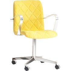 Cadeira Executiva 2042-13 Alumínio com Rodízios Amarela - DAF