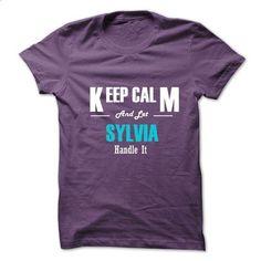 Keep Calm and Let SYLVIA Handle It - #tee trinken #tshirt skirt. BUY NOW => https://www.sunfrog.com/No-Category/Keep-Calm-and-Let-SYLVIA-Handle-It-6279718-Guys.html?68278