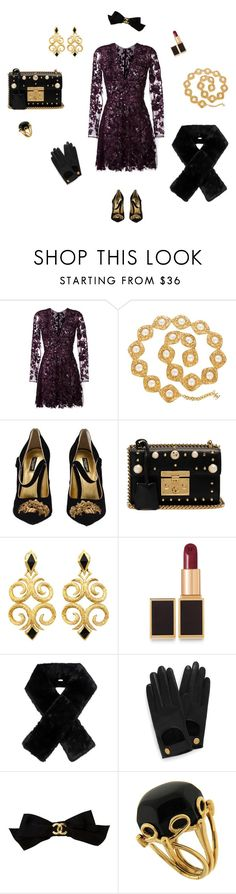 """""""Let's go for a party"""" by charlottes-styles on Polyvore featuring mode, Zuhair Murad, Chanel, Dolce&Gabbana, Gucci, Tom Ford, Carven, Mulberry, Valentin Magro en pearlsandgold"""