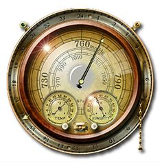 Steampunk Weather Icon and Widget MkIII, x, brass-colored gauge transparent background PNG clipart What Is Steampunk, Arte Steampunk, Style Steampunk, Steampunk Crafts, Steampunk Clock, Steampunk Design, Steampunk Fashion, Steampunk Airship, Tardis