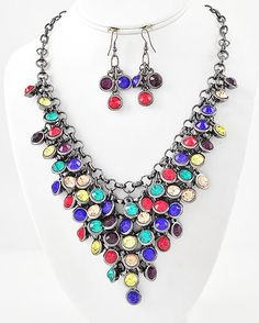 Crayola Gem Necklace & Earring Set $32. Free Shipping! Facebook Fan Exclusives at www.facebook.com/signaturestyle365