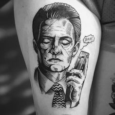 agent cooper from twin peaks tattoo