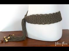 How To Crochet the Modern Taupe Belt, Episode 230 - YouTube