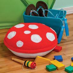 Amigurumi At Home - Crochet Toadstool Floor Cushion