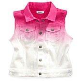 DKNY Kids Vest, Little Girls Denim Ombre Vest