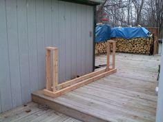 DIY wood storage from 2x4s