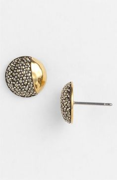 Judith Jack 'Gold Sea' Button Stud Earrings
