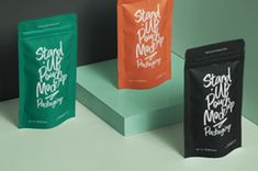 A high quality packaging stand up psd pouch mockup scene to showcase any branding designs.You can add your own graphics with... Letterhead, Stand Up, Mockup, Branding Design, Stationery, Pouch, Packaging, Templates, Scene