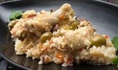 Receta de Arroz con pollo y aceitunas