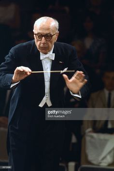 Hungarian-born US conductor George Szell (1897 - 1970), who conducted for German composer Richard Strauss at the Berlin State Opera. In 1946, he became a permanent conductor for the Cleveland Orchestra.