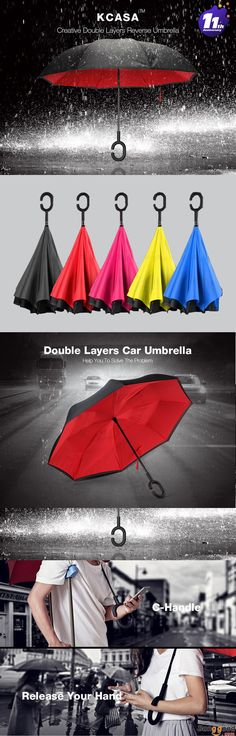 57%OFF!! US$13.99+ Free Shipping. Creative Reverse Double Layer Umbrella. 10 colors available.No Longer Afraid Of Rainy Day! Shop at banggood.com now!