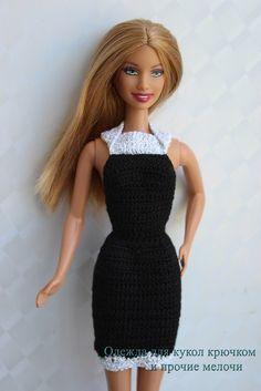 Free pattern of black dress for Barbie