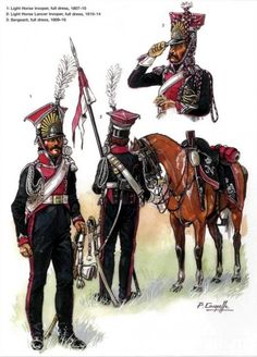 SOLDIERS- Courcelle: NAP- France: French Cavalry 1st Regiment (Polish Lancers), by Patrice Courcelle.