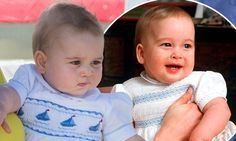 Prince George models royal romper Prince William also wore as a baby http://dailym.ai/RnYjgi #DailyMail