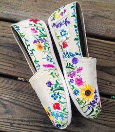 Flower Toms Custom Shoes