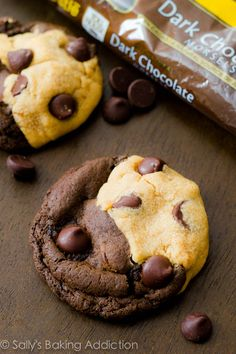 Soft-Baked Peanut Butter Chocolate Swirl Cookies by sallysbakingaddiction.com