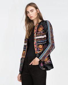 Blazers, Zara, Ethnic Fashion, Boho Fashion, Modi Jacket, Bohemian Mode, Embroidered Jacket, Quilted Jacket, Fashion Days