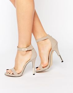 Call It Spring Astilawen Nude Metal Heel Barely There Sandals