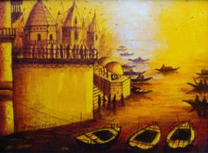 """Banaras Ghat"" Painting Series by Artist Anirban Seth http://colourentice.com/ANIRBAN%20-SETH.php? For any further details please call us at +91 9920042242 or write to us at live@colourentice.com, we are happy to assist you. ‪#‎Art‬ ‪#‎Paintings‬ ‪#‎Banaras‬"