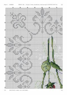 Lace Embroidery, Cross Stitch Embroidery, Embroidery Designs, Cross Stitch Designs, Cross Stitch Patterns, Art Nouveau Pattern, Rose Bouquet, Small Flowers, Blackwork