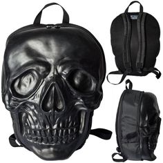 0829fe60e3e Inked Boutique - Skull Backpack Black by Kreepsville 666 Punk Goth Horror  (Also available in