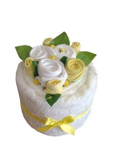 Blooming Beautiful Towel Cakes, Towel Cakes, towel cakes for mum and baby, baby towel cakes, clothing bouquets,