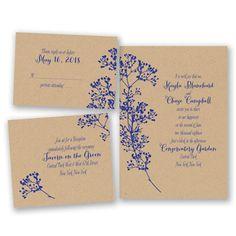 Floral Kraft - Bundle Basic Wedding Invitation Set - Inexpensive at Invitations By David's Bridal