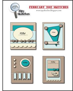 #papercraft #sketches iSpy Sketches: Past Sketches