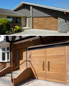 Urban Front - Contemporary front doors UK | garage doors - bi-fold garage doors allowing limited access for pedestrian entry!