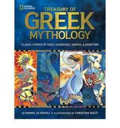 With artwork and story-telling, this title presents Greek myths in an accessible manner. Separated into two main sections, it first brings to life the stories of gods and goddesses such as Zeus, Aphrodite, Apollo, and Athena.