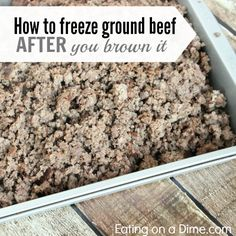 freezing ground beef