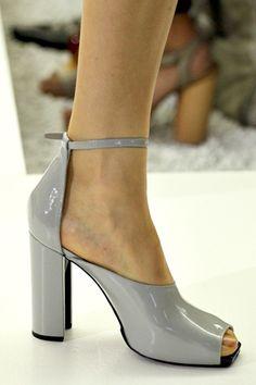 Shoe colour- Matte grey leather Jil Sander