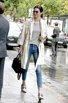 Kendall Jenner returns to her hotel in Paris on July 5, 2015.