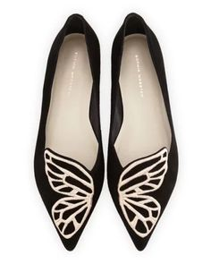 Bibi Butterfly Embroidered Suede Flat (Sopia Webster) #suede #flats #shoes