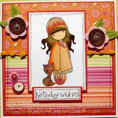 handmade card using Foxy from Sugar Nellie at www.funkykits.co.uk http://fiscardsandcrafts.blogspot.co.uk