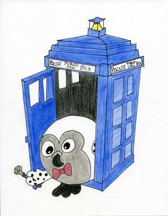 "Wow! Doctor ""Hoo"", by Squishy fan Devon F. for Doodle Day! #squishable #plush #doctorwho #fanart"