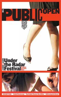 The Public Theater 2012-13 Season Campaign - Paula Scher (Pentagram)