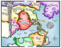 Please feel free to share this pin :) A map of the continents Vordakkis and Toa'maan. Created for the upcoming novel, Shadowfelt by Ken E Baker Illustrator: Rudi Benade Happy pinning!