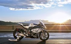 Download wallpapers 4k, BMW HP4 Race, sunset, 2018 bikes, superbikes, german motorcycles, BMW