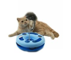New Pet Cat Kitty Funny Toy Playing Ball Spring Mice Activity Training  Disk Toy