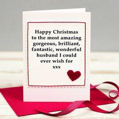 Handmade christmas card for husbandwifeboyfriendgirlfriend www christmas card for husband or boyfriend m4hsunfo