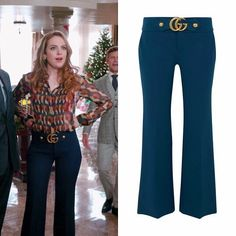 """01x09 """"Rotten Things"""" - December 13, 2017  Gucci """"GG-Detail Wool & Silk Flare Pants"""" - $1,200.00  #Dynasty #FallonCarrington"""