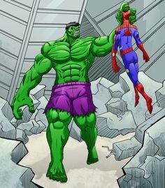 #HULK #Fan #Art. (Hulk doesnt like Spiderman) By:Karusho. (THE * 3 * STÅR * ÅWARD OF: AW YEAH, IT'S MAJOR ÅWESOMENESS!!!™)[THANK Ü 4 PINNING!!!<·><]<©>ÅÅÅ+(OB4E)