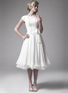 Princess Short Sleeves Wedding Dresses