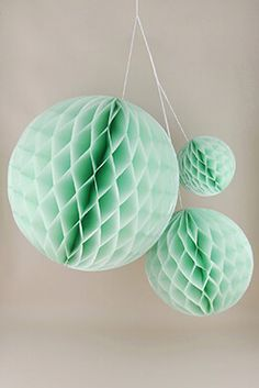10.99 SALE PRICE! For a colorful bridal shower or birthday party, use the Honeycomb Balls to add tasteful detail! To assemble the mint colored honeycomb lant...