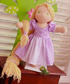 Interesting idea.  You could do Hermione, Harry, Ron, Snow White, on and on...    rapunzel waldorf doll